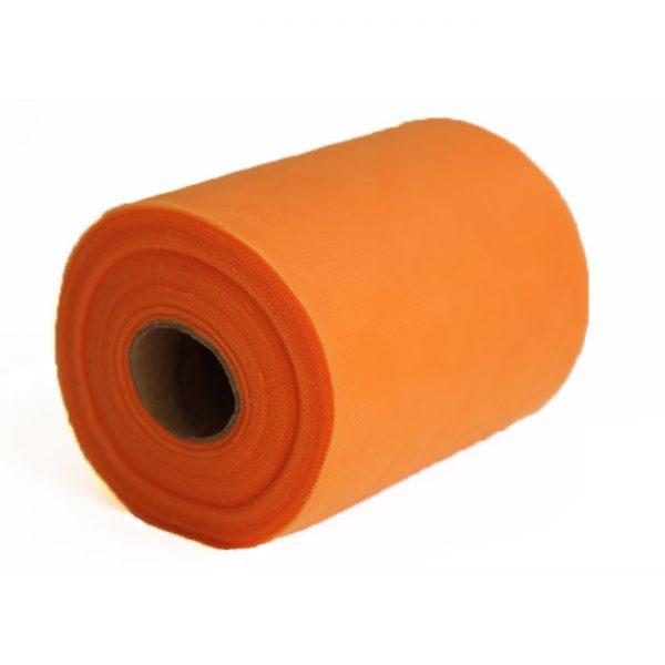 oranje-tule-op-rol